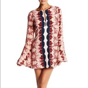 Free People Ossie Vibes Bell Sleeve Tunic Dress